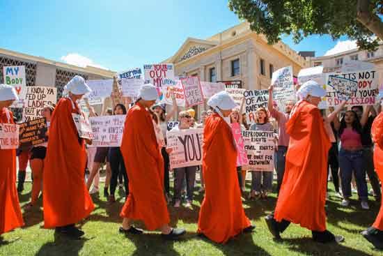 מפגינות בעד זכות להפלה/ צילום: רויטרס - Nathan J. Fish/The Republic
