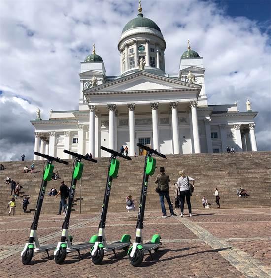 """קורקינטים של ליים בהלסינקי, פינלנד / צילום: יח""""צ"""