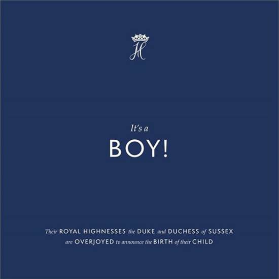 ההודעה על הולדת בנם של הארי ומייגן / צילום מתוך האינסטגרם הרשמי