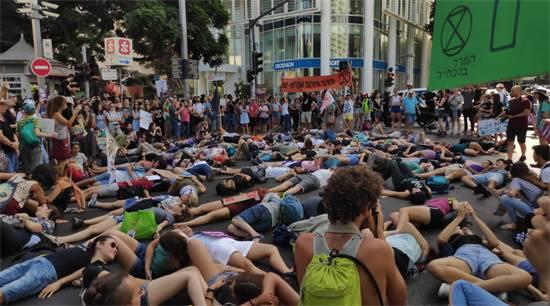 """צעדת מחאה בשל משבר האקלים בת""""א ב-27 בספטמבר / צילום: רועי מרגוליס, יח""""צ"""