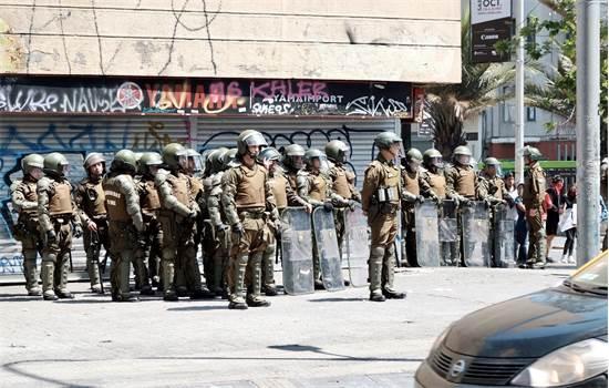 כוחות צבא ברחובות של ההפגנות בצ'ילה / צילום: שני אשכנזי, גלובס
