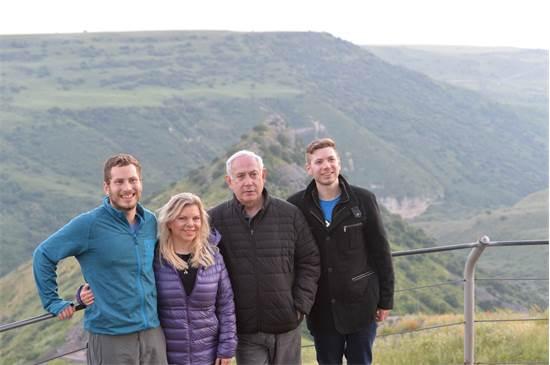 """משפחת נתניהו בטיול בצפון / צילום: קובי גדעון לע""""מ"""