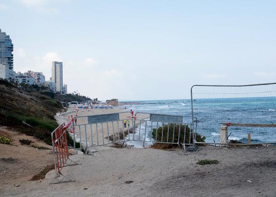 """חוף בת ים שבו נהרג טימופי אשורטיה ז""""ל / צילום: ניב אהרונסון, וואלה! חדשות"""