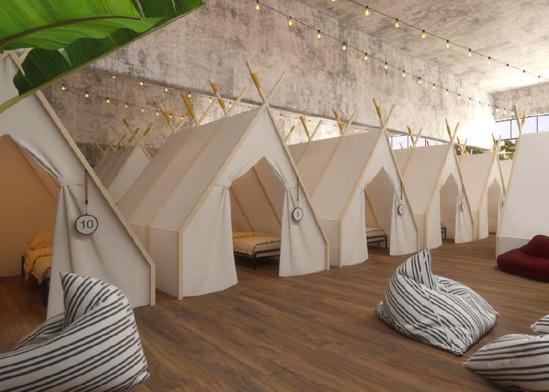 אוהל זוגי ב־40 דולר ברשת ספוט בנמל תל אביב / צילום: סטודיו מיכאל אזולאי