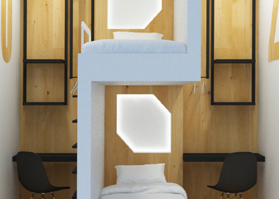 חדר קפסולה בספוט תל אביב / צילום: הגר דופלט