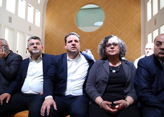 """נציגי מפלגת חד״ש בדיון בבג""""ץ / צילום: דוברות חד""""ש"""