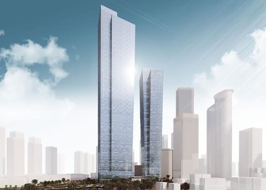 המגדל הגבוה בישראל. / הדמיה: ישר אדריכלים
