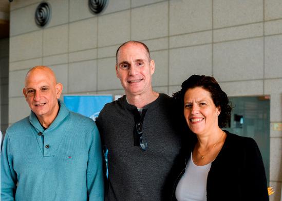 """יעל יגרמן (מימין), רם לוינסון, פארק בר לב, ואהרון אהרון, מנכ""""ל רשות החדשנות,  / צילום: יוליה ברזינה"""