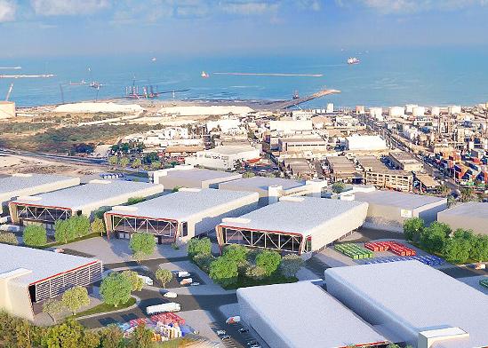 """המרלו""""גים של גב ים בחיפה. מתקרבים לנמל / צילום: יח""""צ"""