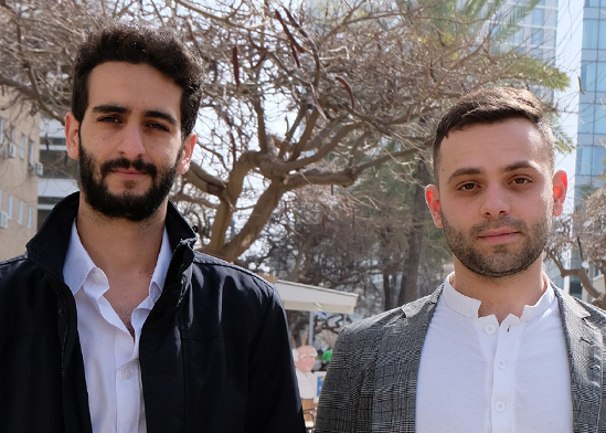 מייסדי הסטארט-אפ Agora, ליאור דולינסקי ובר מורצילום / צילום: נועה מוצפי