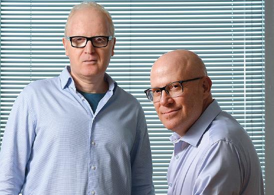 """מימין: איציק שנידובסקי, מנכ""""ל אנליסט, ונועם רוקח, סמנכ""""ל ההשקעות אנליסט / צילום: איל יצהר, גלובס"""
