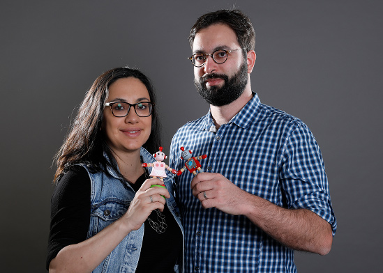 יגאל רייחלגאוז וקרינה אודינייב, ממייסדי קורטיקה / צילום: כפיר זיו