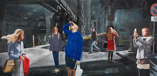 עבודה של מונטאן רוזנבלום, ללא כותרת (הם עמדו רגע ממושך...),2016