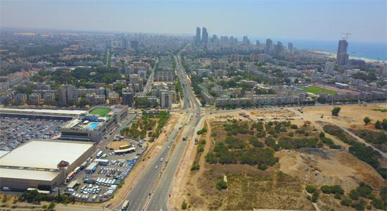 הקרקע שעליה מתוכנן לקום פרויקט סגול באשדוד / צילום: יחצ