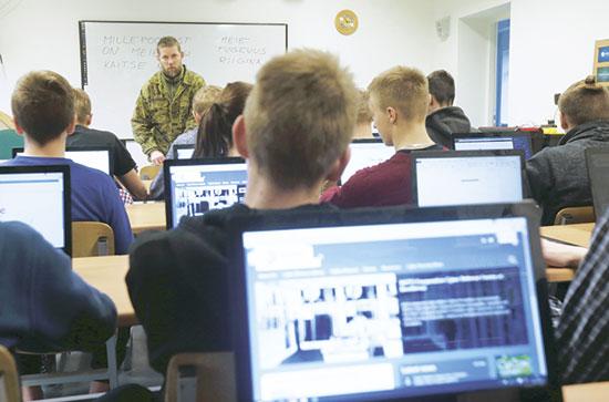 לימודי סייבר באסטוניה. שיתוף פעולה עם המגזר הפרטי / צילום: רויטרס