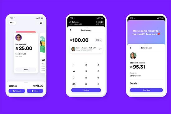 סקרינשוט של האפליקציה החדשה של פייסבוק לשימוש במטבע החדש שהשיקה