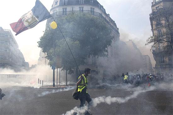 הפגנות בצרפת / צילום: רויטרס