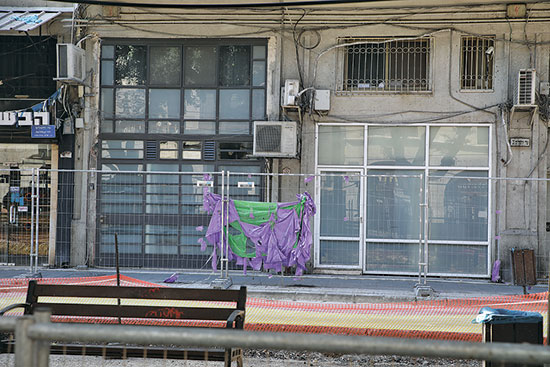 שדרות ירושלים. עבודות על הרכבת הקלה פוגעות בעסקים / צילום: כדיה לוי