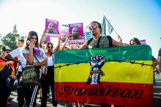 ההפגנות בעקבות הריגתו של סלמון טקה /צילום:  שלומי יוסף