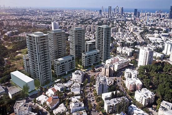 """פרויקט פינוי בינוי של האחים דוניץ, בדרך השלום בתל אביב / הדמיה: יח""""צ"""