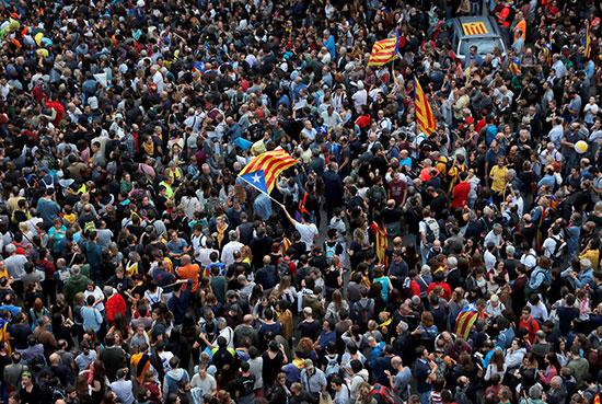 הפגנות בברצלונה / צילום: רויטרס