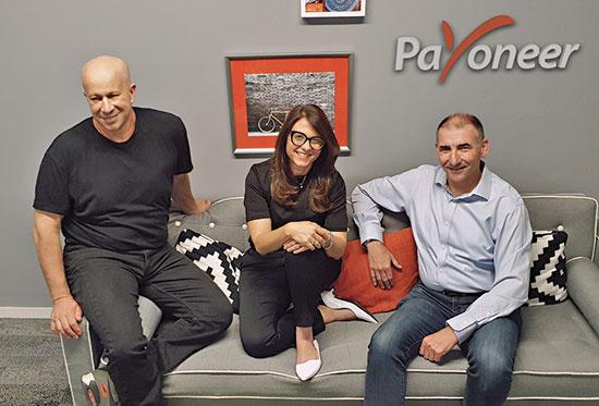 יואל נוה (מימין), קרן לוי ויובל טל / צילום: Payoneer