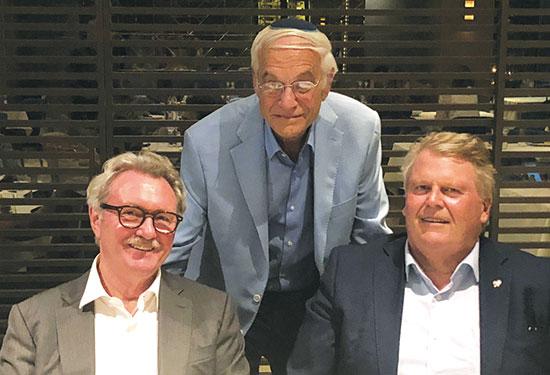 הנס פרדריק גרובן (מימין), אורני איזקסון וג'ון הנסן באור   / צילום: ליאור כהנא