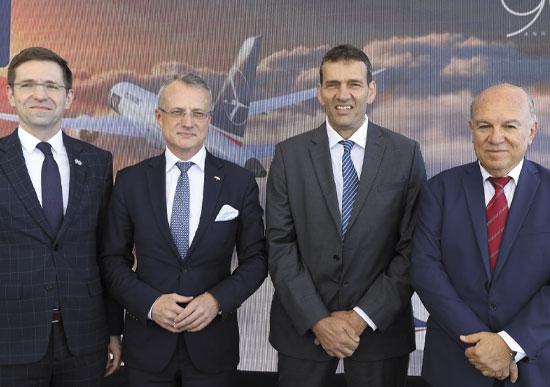 אפרים פורטיס, אמיר הלוי, מארק מגירובסקי ומיכאל פיג'וט / צילום: חן גלילי