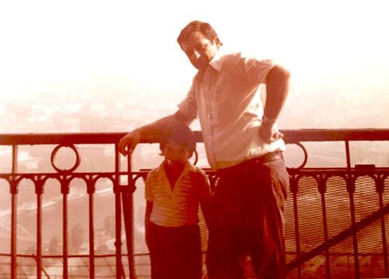 אוהד גלעדי ואביו בצרפת / צילום: אלבום פרטי
