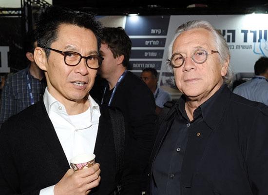 קארל פנדר ו־וונג מון סום  / צילום: חכם צלמים