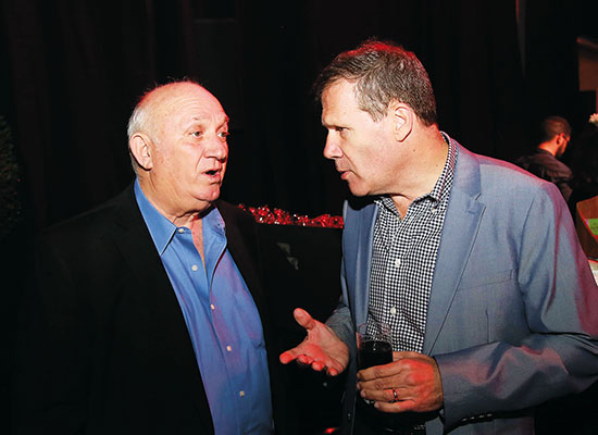 גיל סמסונוב ואיציק אברכהן / צילום: סיון פרג'