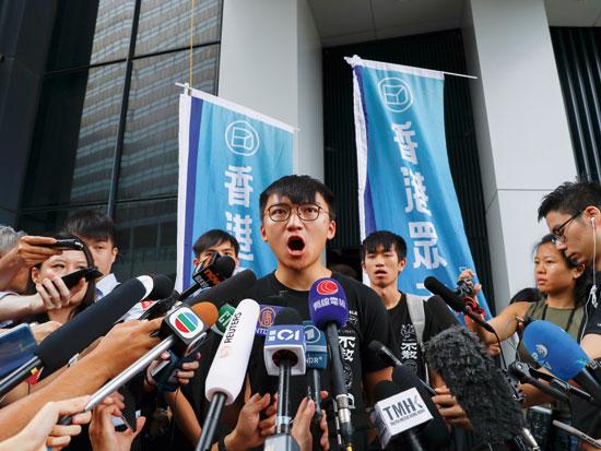 מנהיג המוחים בהונג קונג, ג'ושוע וונג, אוגוסט 2019 / צילום: רויטרס - Anushree Fadnavis