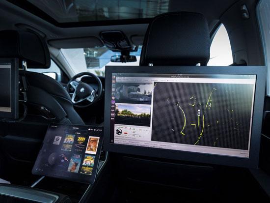 מבט מבפנים לרכב אוטונומי של BMW / צילום : יחצ BMW