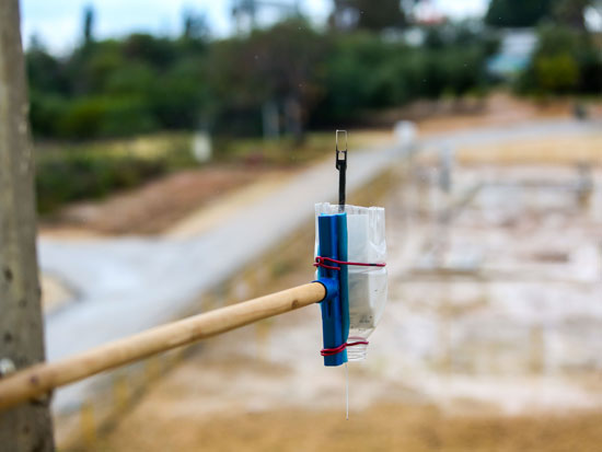 המתקן המאולתר של לב־ארי / צילום: שלומי יוסף