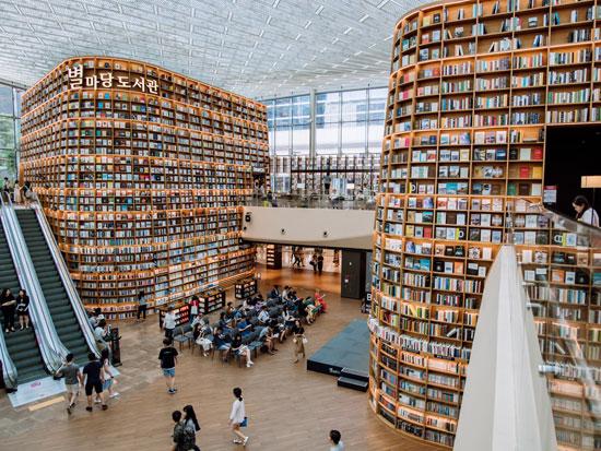 Starfield Library חנות הספרים/ צילום: shutterstock אס איי פי קריאייטיב