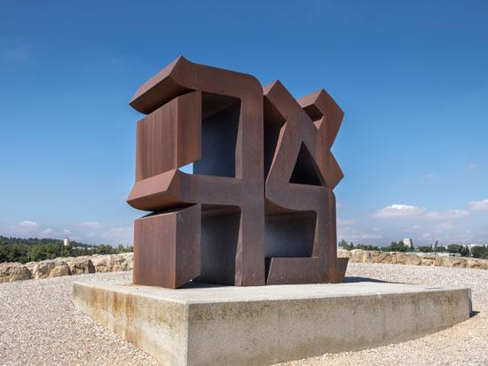 פסל של רוברט אינדיאנה בירושלים/ צילום:shutterstock אס.איי.פי קריאייטיב