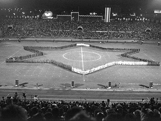 """חזרה למפגן צה""""ל באצטדיון ביום העצמאות ה־40 / צילום: נתי הרניק, לע""""מ"""