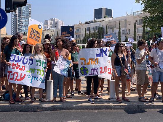 הפגנת התלמידים בכיכר הבימה בנושא משבר האקלים / צילום: שני אשכנזי
