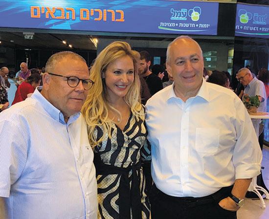 חמי פרס (מימין), רוית דום עיני וארנון בר דוד  / צילום: ישראל מלובני