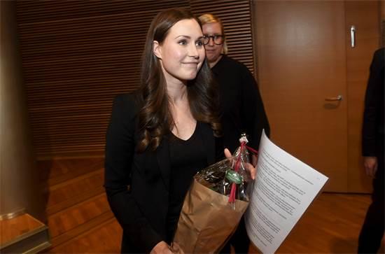 ראש ממשלת פינלנד, סאנה מרין / צילום: Vesa Moilanen/Lehtikuva, רויטרס