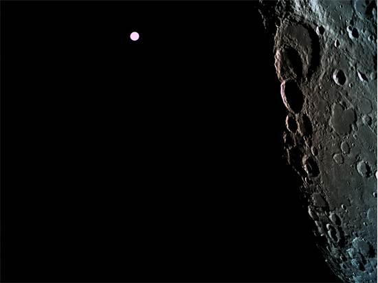 """""""בראשית"""" עם תמונות ראשונות מהירח / באדיבות: SpaceIL"""