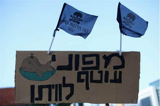 תושבים מאזור הכרמל והשרון מפגינים מול קריית הממשלה בתל אביב  / צילום: שלומי יוסף, גלובס
