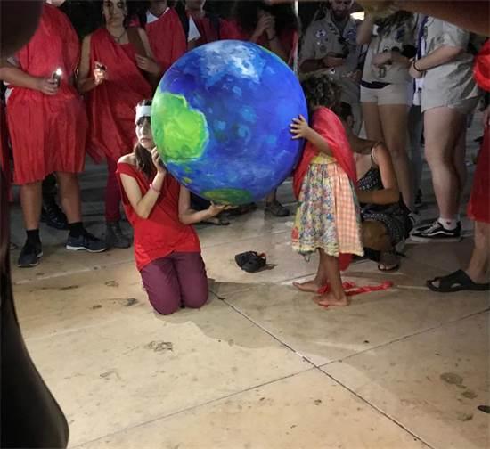 מחאת האקלים בכיכר הבימה / צילום: מיכל רז-חיימוביץ, גלובס