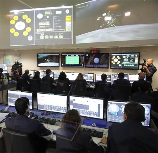 נחיתת החללית בראשית על הירח / צילום: יחצ