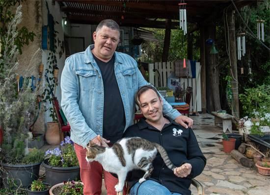 גדי ויטנר ודורון אורסיאנו, ראש פינה / צילום: אייל מרגולין
