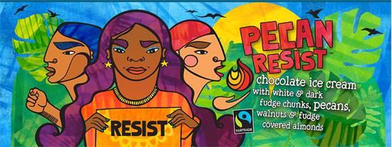 """הקמפיין ל-""""Pecan Resist"""" של בן אנד ג'רי'ס / צילום: צילום מסך"""