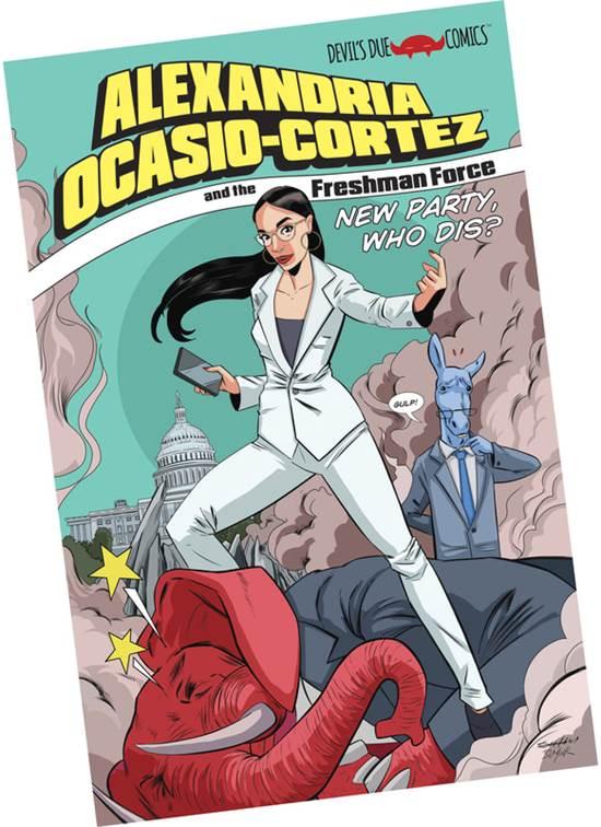 עטיפת הקומיקס שיבוסס על אלכסנדריה אוקסיו-קורטז / צילום: Devil's Due Publishing