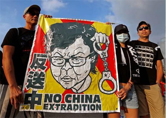 הפגנת ענק נגד מנהיגת הונג קונג / צילום: JORGE SILVA, רויטרס