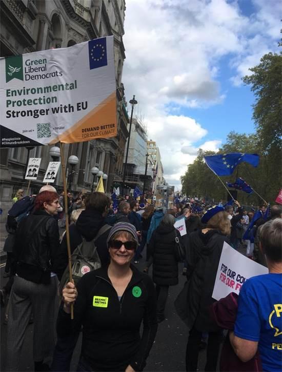הפגנה נגד הברקזיט בלונדון / צילום: אורי רודנר