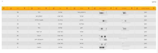 מאגר המצביעים של Hito Systems / אינפוגרפיק: צילום מסך